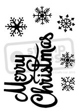 A7 'Merry Christmas & Snowflakes' Unmounted Rubber Stamp (SP000667)