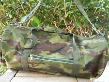"CAMOUFLAGE DUFFEL BAG Camo Hunting Camping Overnight Gym Sport Travel 16x9"" NEW"