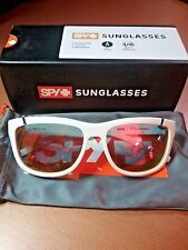 Spy + Murena Sunglasses White-GY w RD FLSH lens New in Box Free Shipping