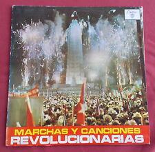 MARCHAS Y CANCIONES REVOLUCIONARIAS LP ORIG CUBA