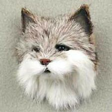BOB CAT  HEAD FUR MAGNET. Very realistic. Collect animal magnets!
