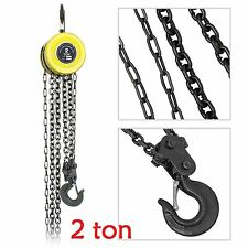 2 Ton Chain Block Hoist Car Engine Heavy Load Tackle Lifting Tool Winch Pulley