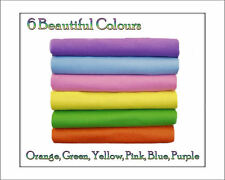 ECO Friendly WOOL FELT - Fabric 12 Squares Spring Shades - 30cm x 25cm, azo free