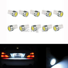 10pcs License Plate Light T10 161 184 192 447 656 W5W White LED Light Car Bulbs