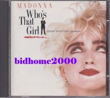 Madonna - Who's That Girl OST Japan CD 32XD-787 日本版
