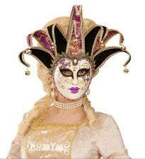 Deluxe Venetian Masquerade Masked Ball Carnival Face Mask Fancy Dress