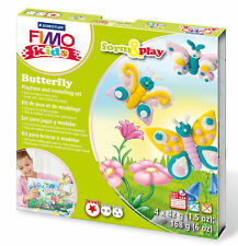 New FIMO Kids Form & Play Set Butterfly Modelling Jewellery Craft Art Fun