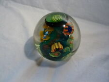 ARO SCHULZE '99 Studio Art Glass TIDEPOOL Paperweight Anemone Coral Oregon #303