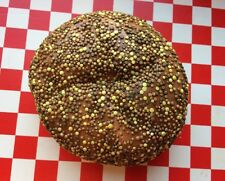 Realistic  Fake Food Seeded Bread Roll Bun Bakery Display Photo Movie Stage Prop