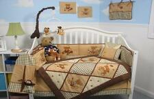 American Teddy Bear Baby Crib Nursery Bedding Set 13 pcs included Diaper Bag
