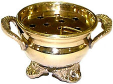 "3.5 "" Brass Cauldron Incense Charcoal Resin Sage Smudge Burner FREE SHIPPING"