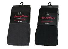 3 Damen Winter Strumpfhosen Strickstrumpfhosen mit Baumwolle ohne Muster o. Naht