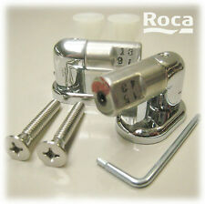 ROCA REPLACEMENT NEXO Mk1 SOFT CLOSE WC TOILET SEAT HINGE SET ONLY CHROME HINGES