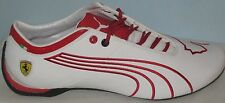 MEN'S PUMA FUTURE CAT M1 SCUDERIA FERRARI  TIFOSI WHITE LEATHER SHOES SIZE 10