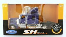 "Welly Kenworth W900 Tractor 1:32 scale 10"" diecast truck Cab Blue N208"