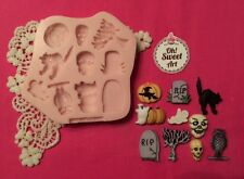 Halloween  Set Silicone Mold Food Safe  Cake Decoration toppers  Cupcake  (FDA)