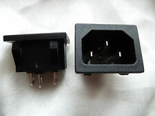 2 IEC Mains Connector Push-Fit Chassis Inlet (181)