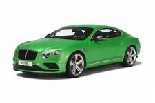 BENTLEY CONTINENTAL GT V8 S COUPE GREEN LTD 1500PCS 1/18 CAR BY GT SPIRIT GT077
