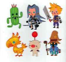 Set of 6  Final Fantasy Theatrhythm Patches - Iron on or Sew on Badge Patch