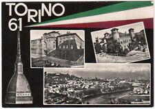 cartolina TORINO '61 vedute-primo centenario unita' d'italia