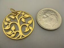24K Gold Plated Sterling Silver Tree of Life Charm, Family, Mother, Fabulous!!