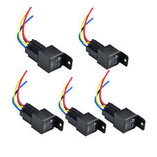 5 Pack Car Auto 12V 40A SPST Relay & Socket 4Pin Relays 4 Wire Fast US Delivery
