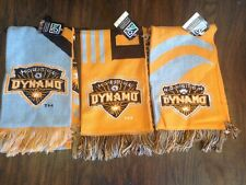 3 Different Authentic Adidas Houston Dynamo Soccer Scarves Scarf MLS Jersey