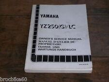 MANUEL REVUE TECHNIQUE D ATELIER YAMAHA YZ 250 1995 G SERVICE MANUAL 250YZ YZ250