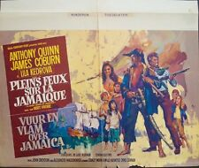 A HIGH WIND IN JAMAICA Belgian movie poster JAMES COBURN ANTHONY QUINN RAY Art