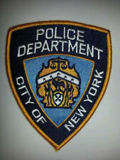 NYPD NEW YORK CITY  POLICE DEPARTMENT SHOULDER PATCH -