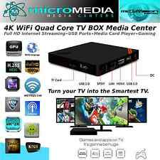 MediaVision 4K Wifi Quad Core Smart TV Box- 3D 1080HD XMBC Miracast DNLA