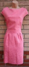 DOROTHY PERKINS PINK FLORAL QUILTED TUBE BODYCON ELEGANT TEA RARE DRESS 16 XL