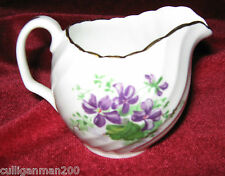1 - Adderley Pattern H389 Purple Flower Mini Creamer (2014- 211)