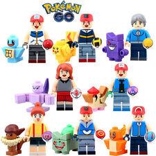 Lot 8 minifig figurines personnages (jeux carte ds Nintendo) POKEMON Pikatchu-