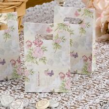 New wedding with love vintage floral love birds 10 small favour sweet bags