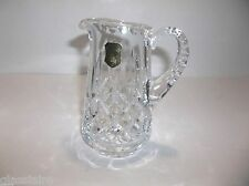 "Vintage Cut Crystal Pitcher Poland Lismore Pattern 5.25"" Made In Poland"