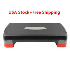 Aerobic Step Fitness Board Exercise Stepper Platform GYM Block Adjust w/Riser E1