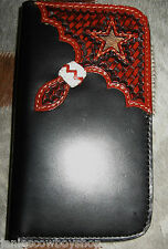 LEATHER WESTERN SAMSUNG GALAXY S4 CELL PHONE HOLDER FLORAL  HAIR STAR WALLET