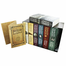 A Song Of Ice And Fire Game Of Thrones 7 Book Box Set Westeros And Cities Map
