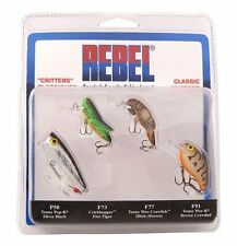 (4) Rebel PK4RB1 Classic Critters Fishing Lures - Crankbait/Topwater/Bass etc.