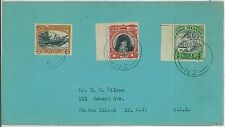 palm trees BOATS - POSTAL HISTORY -  NIUE: cover to USA 1947 #1