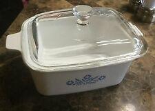 CORNING WARE BLUE CORNFLOWER  RECTANGULAR LIDDED CASSEROLE