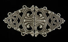 Rumpelstiltskin's Cloak Clasp in Fine Pewter by Treasure Cast