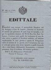 V700-LOMB.VENETO-BARDOLINO BENEFICIO PARROCCHIALE CASSONE 1850