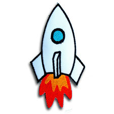 Rocket Apollo Patch Iron On Sew Space Astronaut Nasa Logo Planet Kids Explorer