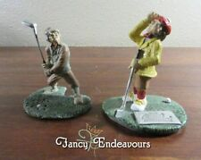 TWO Humorous Golf Theme Pewter Figurines Arnold Palmer & Sanford White