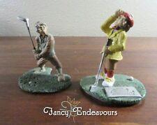 TWO Humorous Golf Theme Pewter Figurines Arnold Palmer & Sanford White