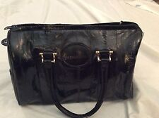 Vintage Genuine Eelskin Eel Skin Bag Purse Black