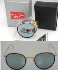 Folding Round Ray-Ban RB 3517 001/30 51mm Gold and Silver Mirror