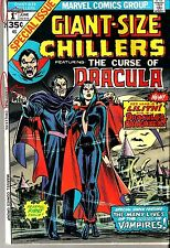 MARVEL COMIC #1 GIANT-SIZE CHILLERS CURSE DRACULA 1974 MONSTERS VAMPIRE